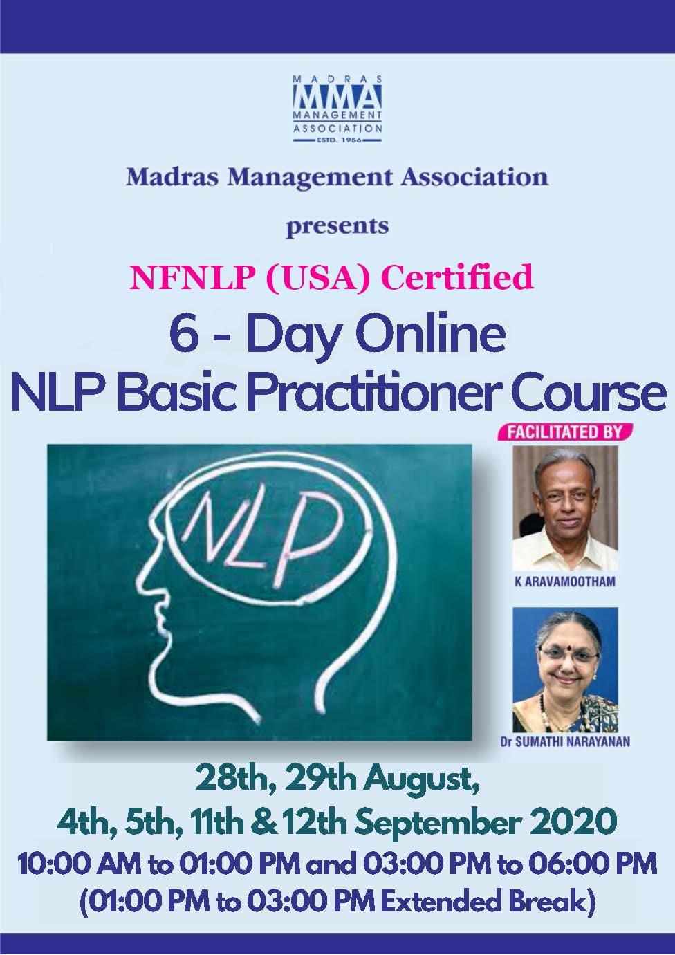 NFNLP's NLP Trainers - K. Aravamootham, Gold Master Trainer